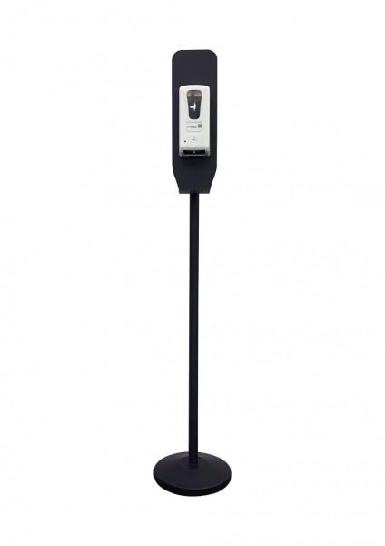 Handdesinfektionsstation Premium | schwarz | unbedruckt