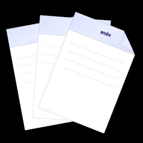 Briefpapier Pantone   DIN A4 beidseitig   2/1-farbig