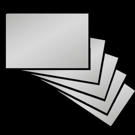 Visitenkarten   Chromeffekt   beidseitig